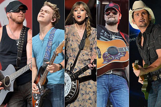 Brantley Gilbert, Hunter Hayes, Taylor Swift, Eric Church, Brad Paisley