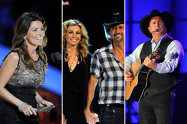 Shania Twain, Faith Hill, Tim McGraw, Garth Brooks