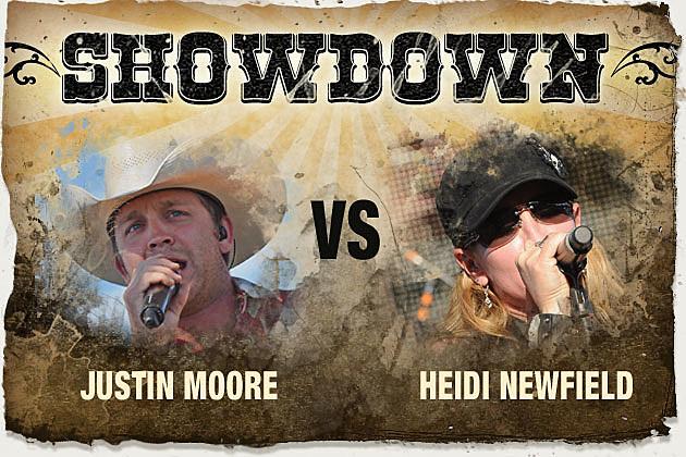 Justin Moore, Heidi Newfield