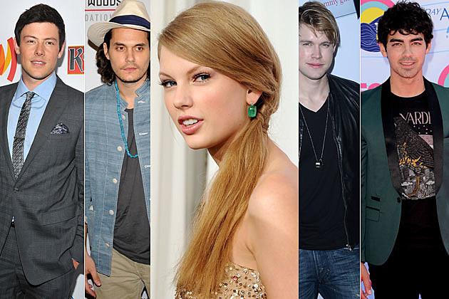 Cory Montieth, John Mayer, Taylor Swift, Chord Overstreet, Joe Jonas