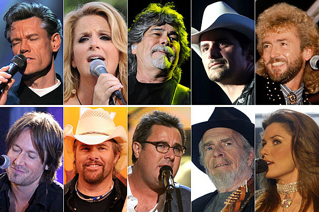Randy Travis, Trisha Yearwood, Randy Owen, Brad Paisley, Keith Whitley, Keith Urban, Toby Keith, Merle Haggard, Shania Twain