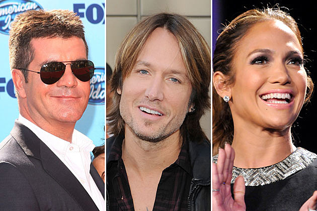 Simon Cowell, Keith Urban, Jennifer Lopez