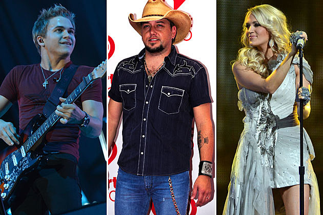Hunter Hayes, Jason Aldean, Carrie Underwood