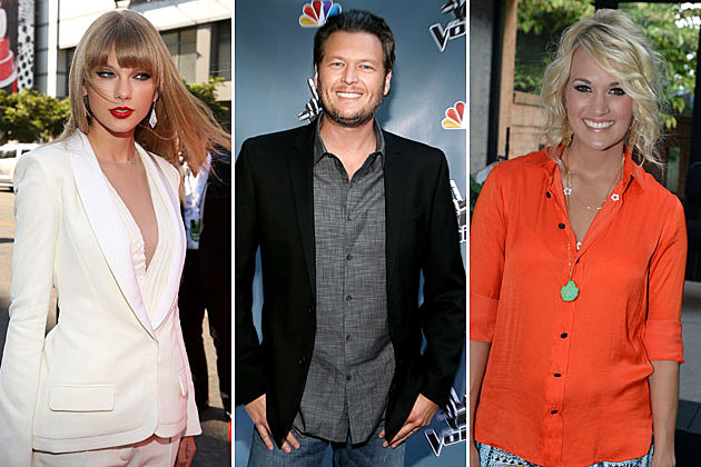 Taylor Swift, Blake Shelton, Carrie Underwood