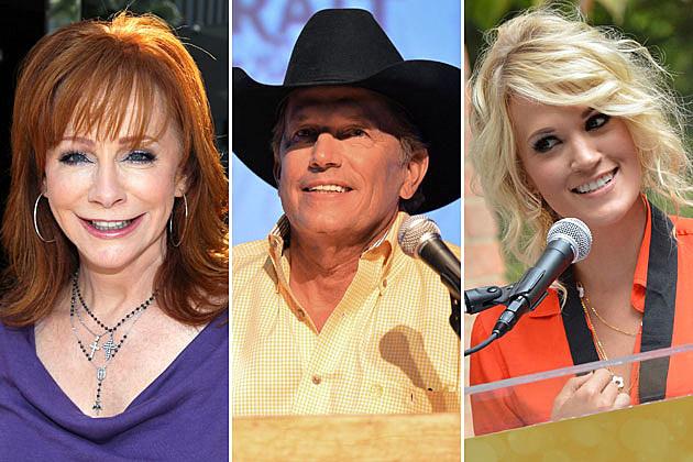 Reba McEntire, George Strait, Carrie Underwood
