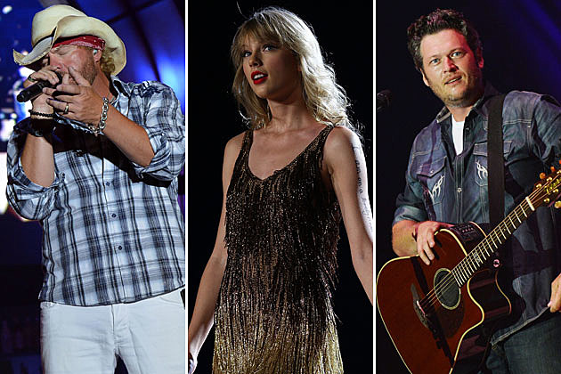 Toby Keith, Taylor Swift, Blake Shelton