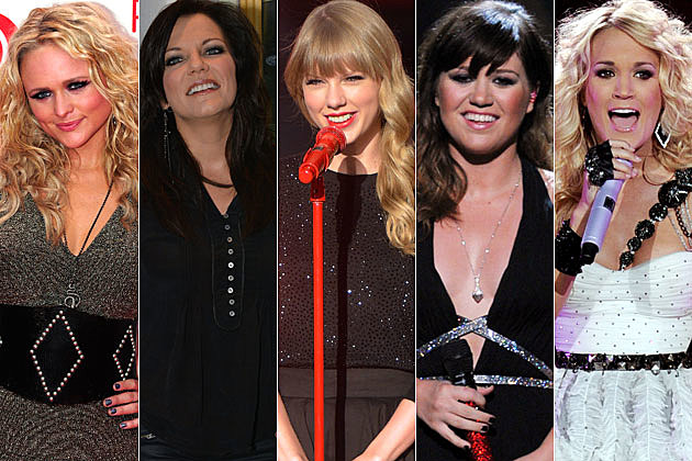 Kelly Clarkson, Martina McBride, Taylor Swift, Miranda Lambert, Carrie Underwood