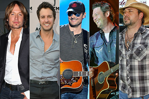 Keith Urban, Luke Bryan, Eric Church, Blake Shelton, Jason Aldean