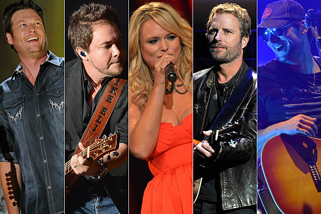 Blake Shelton, Mike Eli, Miranda Lambert, Dierks Bentley, Eric Church