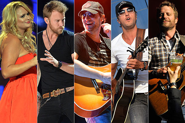 Miranda Lambert, Charles Kelley, Eric Church, Luke Bryan, Dierks Bentley