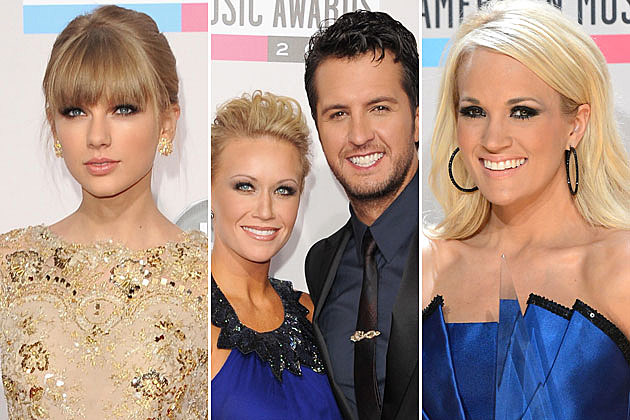 Taylor Swift, Luke Bryan, Carrie Underwood