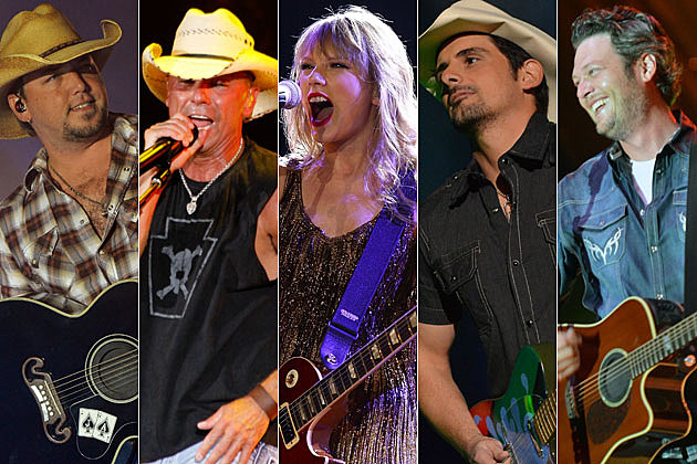 Jason Aldean, Kenny Chesney, Taylor Swift, Brad Paisley, Blake Shelton