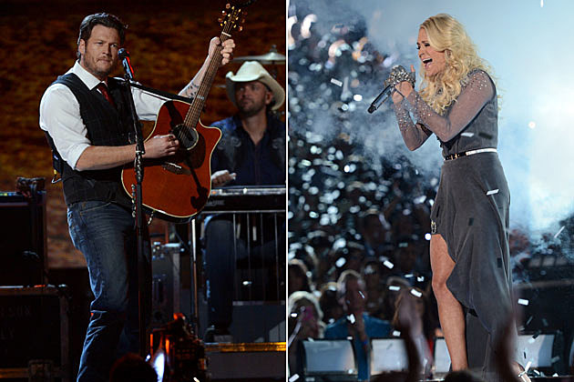 Songs hosts brad paisley and carrie underwood played between award