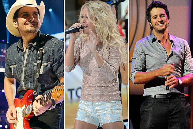Brad Paisley, Carrie Underwood, Luke Bryan