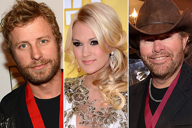 Dierks Bentley, Carrie Underwood, Toby Keith