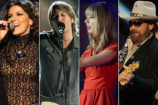 Shania Twain, Keith Urban, Taylor Swift, Hank Williams Jr.