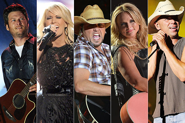 Blake Shelton, Carrie Underwood, Jason Aldean, Miranda Lambert, Kenny Chesney