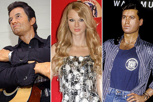 Johnny Cash Taylor Swift Billy Ray Cyrus Wax Figure