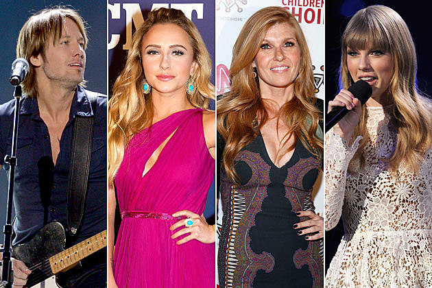 Keith Urban Hayden Panettiere Connie Britton Taylor Swift