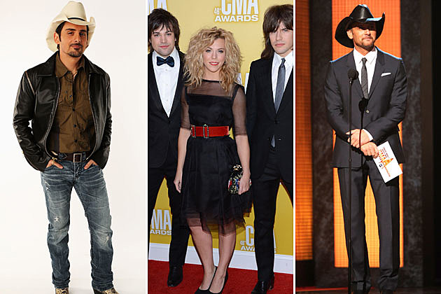 Brad Paisley the Band Perry Tim McGraw