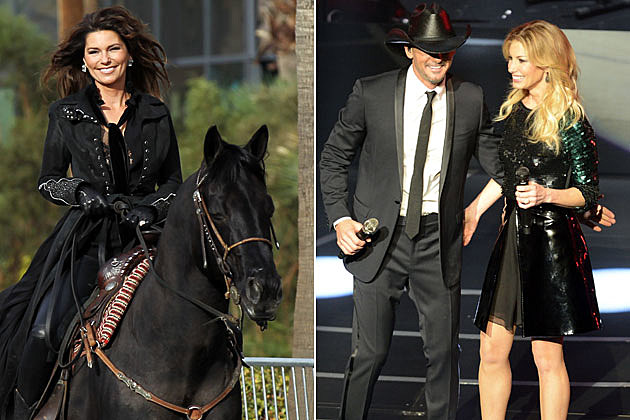 Shania Twain, Tim McGraw, Faith Hill