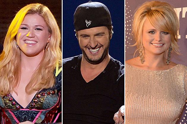 Kelly Clarkson, Luke Bryan, Miranda Lambert