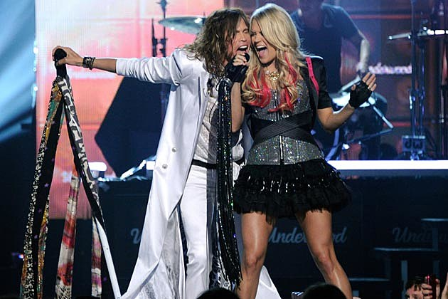 Carrie Underwood Steven Tyler