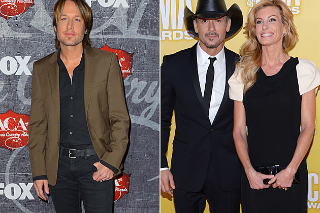 Keith Urban, Tim McGraw and Faith Hill