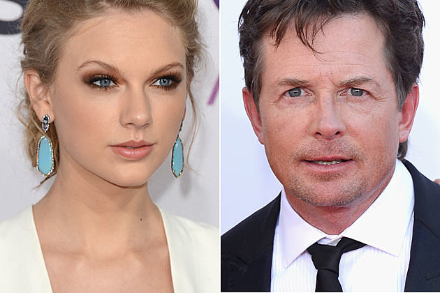 Taylor Swift and Michael J. Fox