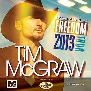 Tim McGraw Tour Poster 2013
