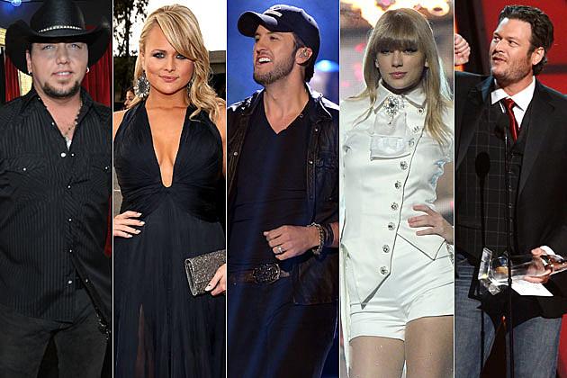 Jason Aldean, Miranda Lambert, Luke Bryan, Taylor Swift, Blake Shelton