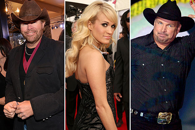 Toby Keith, Carrie Underwood, Garth Brooks