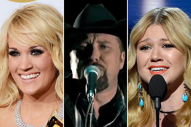 Carrie Underwood Tate Stevens Kelly Clarkson Grammys