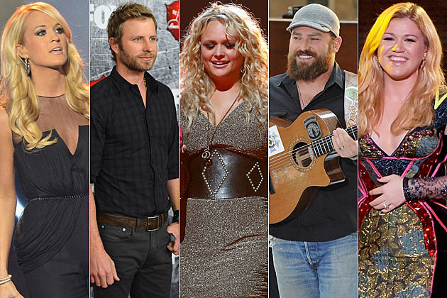 Carrie Underwood, Dierks Bentley, Miranda Lambert, Zac Brown, Kelly Clarkson