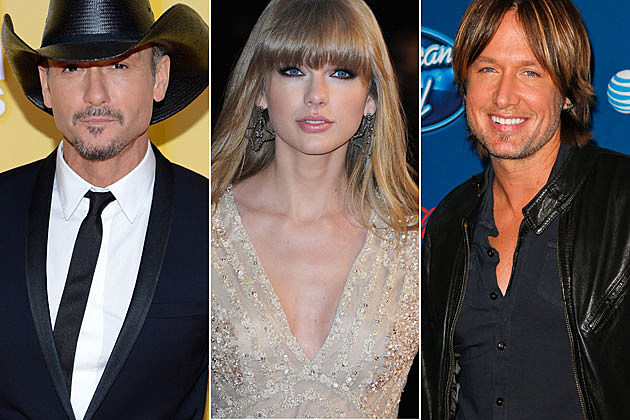 Tim McGraw, Taylor Swift and Keith Urban