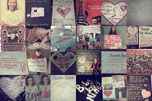 Hunter Hayes Valentines Day Collage
