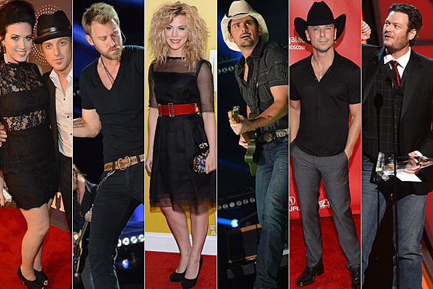 Thompson Square, Charles Kelley, The Band Perry, Brad Paisley, Kenny Chesney, Blake Shelton