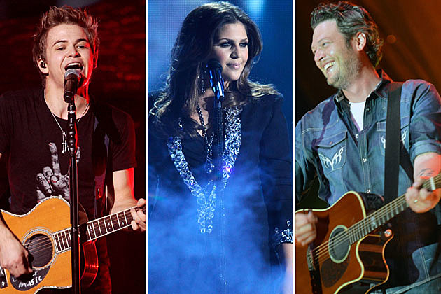 Hunter Hayes, Hillary Scott, Blake Shelton