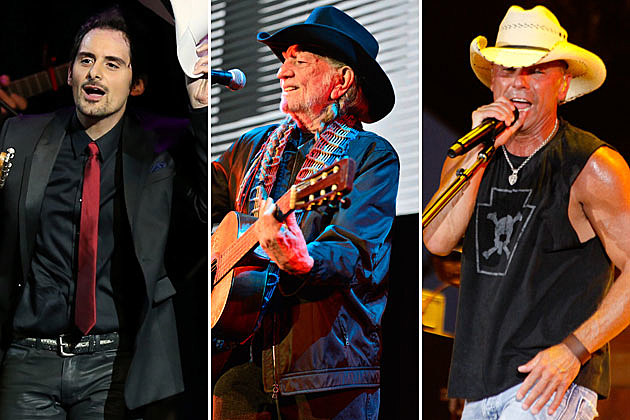 Brad Paisley, Willie Nelson, Kenny Chesney