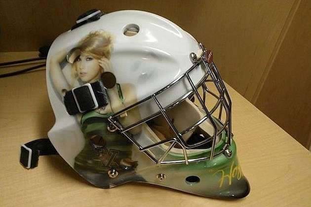 Taylor Swift hockey helmet