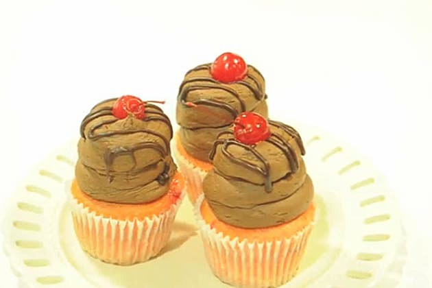 Very Perry Chocolate Cherry Cupcake