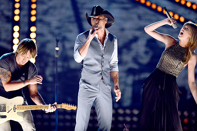 Keith Urban, Tim McGraw, Taylor Swift