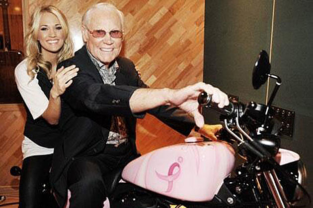 Carrie Underwood and George Jones