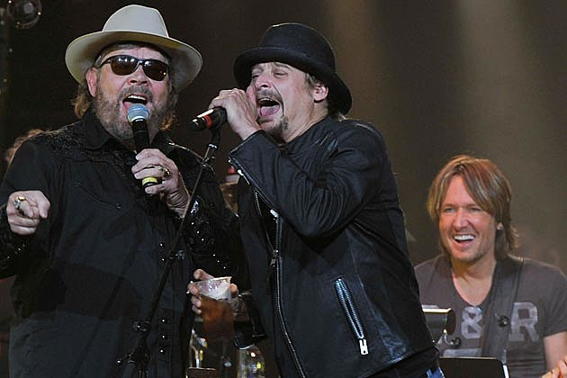 Hank Williams Jr Kid Rock Keith Urban All for the Hall