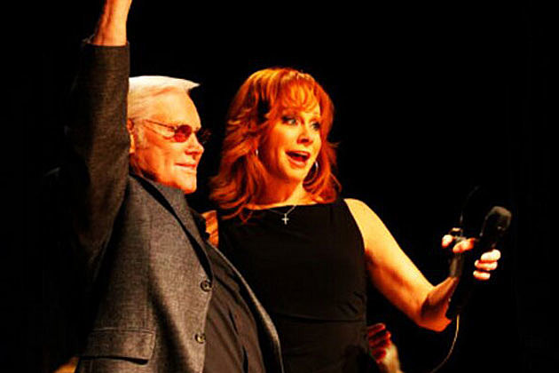 Reba McEntire and George Jones