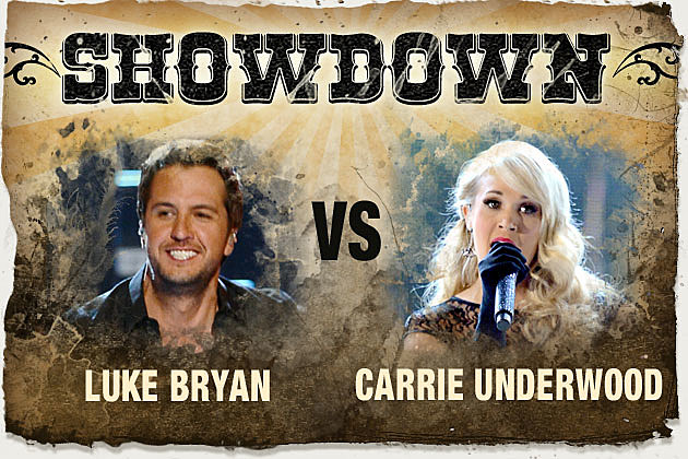 Luke Bryan Carrie Underwood Showdown