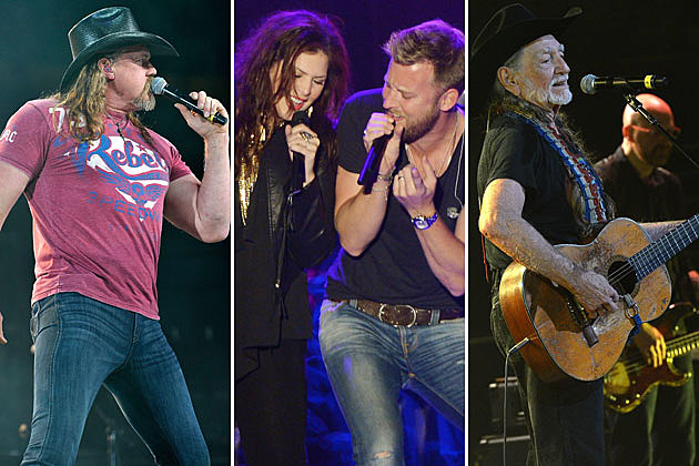 Trace Adkins, Lady Antebellum, Willie Nelson