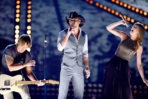 Tim McGraw, Keith Urban Taylor Swift ACM