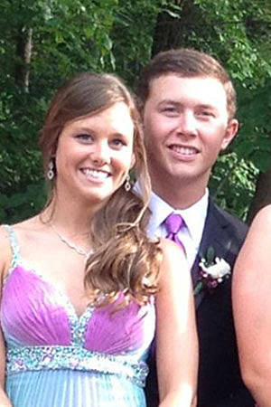 Scotty McCreery With His Prom Date