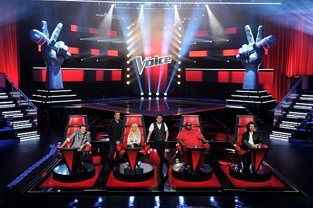 Blake Shelton; Cee Lo Green; Adam Levine; Christina Aguilera